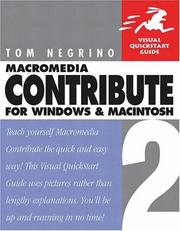 Cover of: Macromedia Contribute 2