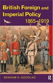Cover of: British foreign and imperial policy, 1865-1919