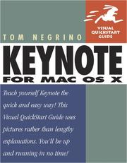 Cover of: Keynote for Mac OS X