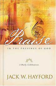 Cover of: Praise in the presence of God