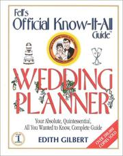 Cover of: The official know-it-all's wedding planner
