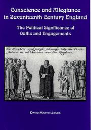 Cover of: Conscience and allegiance in seventeenth century England