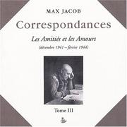 Cover of: Correspondances