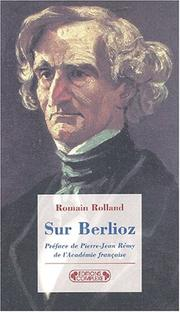 Cover of: Sur Berlioz