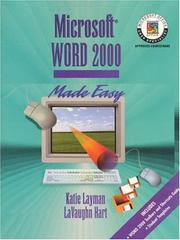 Cover of: Microsoft Word 2000 made easy