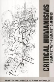 Cover of: Critical humanisms