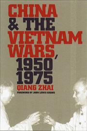 Cover of: China and the Vietnam wars, 1950-1975