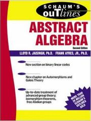 Cover of: Schaum's outline of theory and problems of abstract algebra