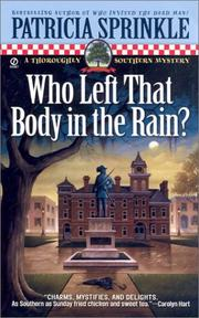 Cover of: Who left that body in the rain?