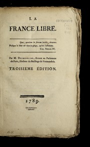 Cover of: La France libre