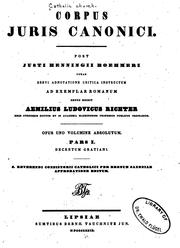 Cover of: Corpus juris canonici