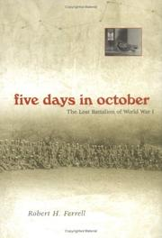 Cover of: Five days in October