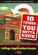 Cover of: 10 things you gotta know