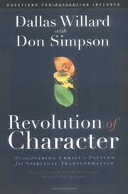 Cover of: Revolution of character