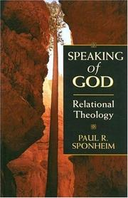 Cover of: Speaking of God