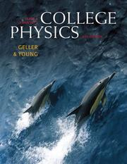 Cover of: Sears & Zemansky's college physics.