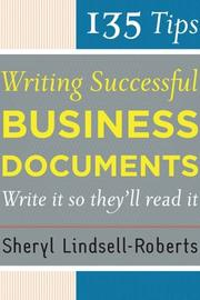 Cover of: 135 tips for writing successful business documents