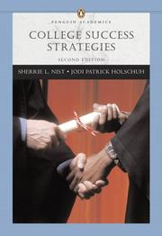 Cover of: College success strategies