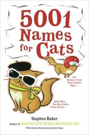 Cover of: 5001 names for cats / Stephen Baker.