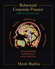 Cover of: Behavioral corporate finance