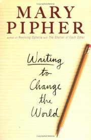 Cover of: Writing to change the world