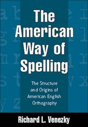 Cover of: The American way of spelling