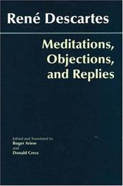 Cover of: Meditations, objections, and replies