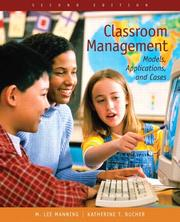 Cover of: Classroom management