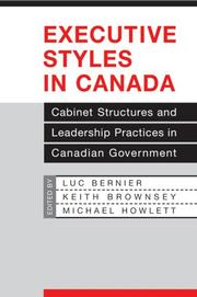 Cover of: Executive styles in Canada