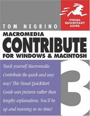Cover of: Macromedia Contribute 3
