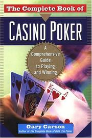 Cover of: The complete book of casino poker