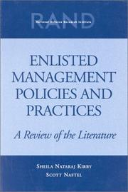 Cover of: Enlisted management policies and practices