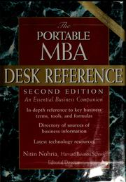 Cover of: The portable MBA desk reference