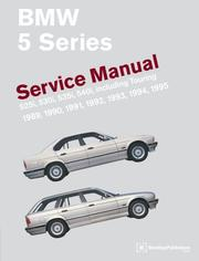 Cover of: BMW 5 Series (E34) Service Manual: 1989-1995 (BMW)