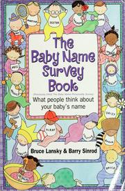 Cover of: The baby name survey book