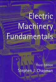 Cover of: Electric machinery fundamentals