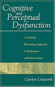 Cover of: Cognitive and perceptual dysfunction