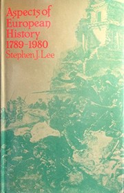 Cover of: Aspects of European history, 1789-1980