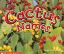 Cover of: Cactus names