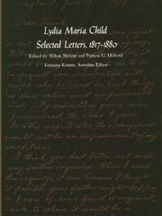 Cover of: Lydia Maria Child, selected letters, 1817-1880