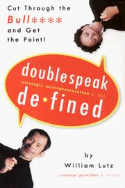 Cover of: Doublespeak defined