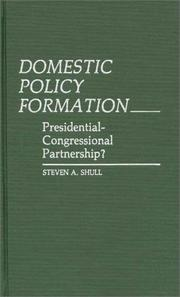 Cover of: Domestic policy formation