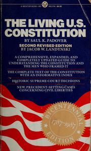 Cover of: The living U.S. Constitution