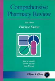 Cover of: Comprehensive pharmacy review practice exams