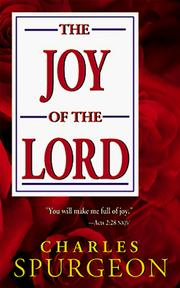 Cover of: The joy of the Lord