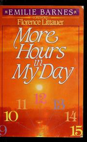 Cover of: More hours in my day
