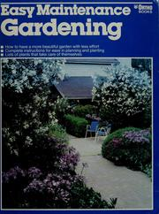 Cover of: Easy maintenance gardening