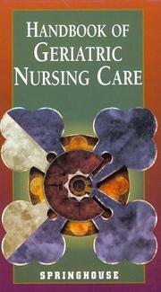 Cover of: Handbook of geriatric nursing care