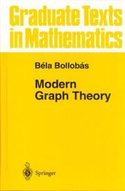 Cover of: Modern graph theory