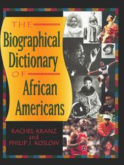 Cover of: Biographical dictionary of African Americans